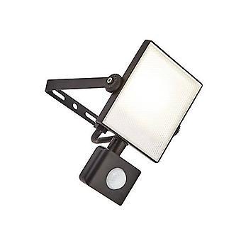 Saxby Scimitar Pir - integrierte LED PIR 1 Licht Outdoor Wand Licht strukturiert schwarz, gefrostet IP44