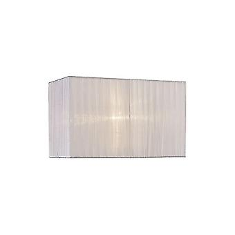 Rectangle Organza Shade, 380x190x230mm, White, For Table Lamp