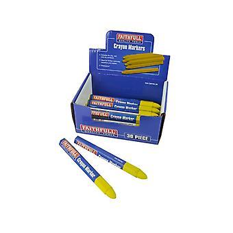 Faithfull Crayon Marker Yellow (CDU of 30)