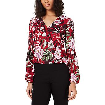 Bar III | Day And Night Floral Print Strong Shoulder Top
