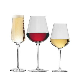 Bormioli Rocco Inalto Uno Small / Large Wine Glasses & Champagne Flute - Set of 18