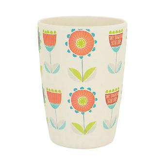 Tiny Dining Children's Bamboo Fibre Juice Cup - Flower