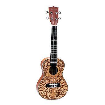 24inch Spruce Ukulele Carved Guitar 4 String Guitar for Beginners