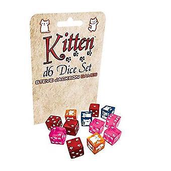 Kitten D6 Dobbelstenen Set
