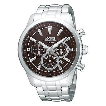 Lorus Mens Chronograph Armbanduhr mit dunkelbraunem Zifferblatt (Modell Nr. RT359AX9)