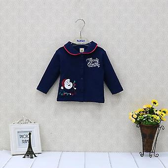Baby Christmas Pure Cotton Newborn Long Sleeve Shirts Kids Clothes Fashion And