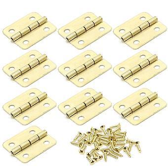 10pcs/18x16mm keukenkast, deurscharnieren, 4-holes gold lade scharnieren