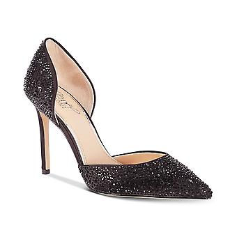 BADGLEY MISCHKA Womens Alexandra Satin Spitz toe D-Orsay Pumpen