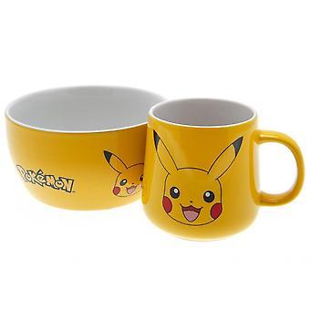 Pokemon Pikachu Mug and Bowl Breakfast Set