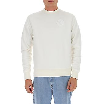 Moncler 8g783809jw034 Men's White Cotton Sweatshirt