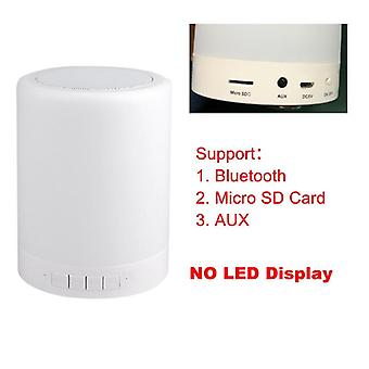 Portable Wireless Led Night Lamp With Bluetooth Speaker And Touch Control Color