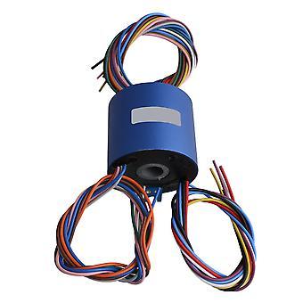 12.7mm Through Hole Dia Capsule Slip Ring 380V 10A 12 Circuits 54mm OD