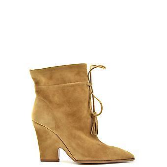 Aquazzura Ezbc440006 Donne's Stivali alla caviglia in pelle scamosciata marrone