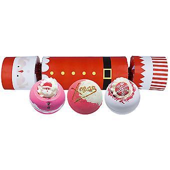 Pommi kosmetiikka kylpy blaster cracker joulu lahjapakkaus asetettu joulupukki