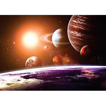 Tapete Wandbild Sonnensystem und Raum O