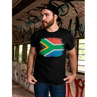 Flag Of South Africa Graphic Tee Men's -Image by Shutterstock