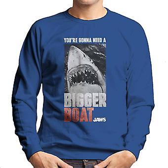 Jaws Större Båt Cinematic Scen Män's Sweatshirt