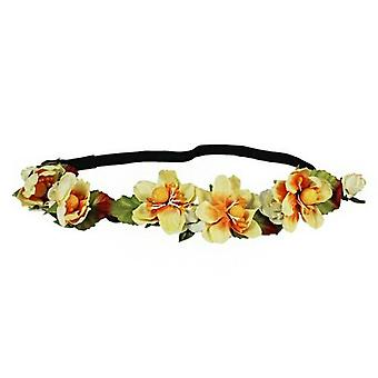 Flower HeadGarland Crown Perfect for Festivals|Weddings or Summer days 2x Yellow