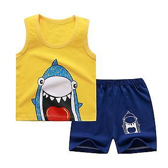 少年&恐竜漫画幼児服、安いものTシャツ