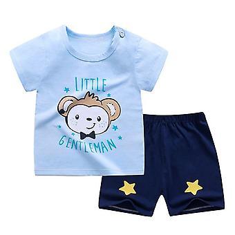 Kesävaatesarja, mukaan lukien T-paita ja shortsit (setti-2)