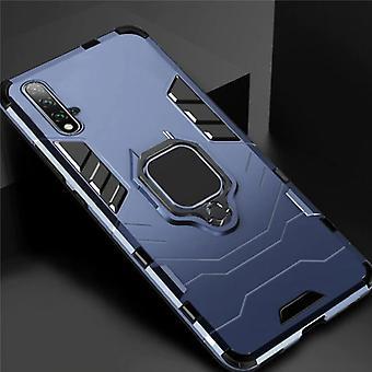 Keysion Huawei Honor 20 -kotelo - Magneettisen iskunkestävä kotelon kansi Cas TPU Sininen + Jalusta