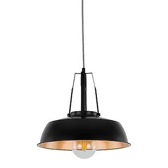 Moderne opknoping hanghanger Zwart 1 Licht met zwart, gouden tint, E27