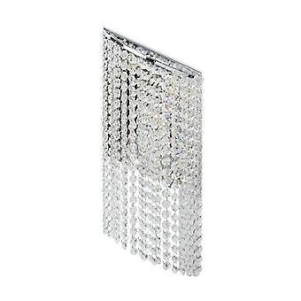 Crystal Chrome Wall Light 5 Pærer 13 cm