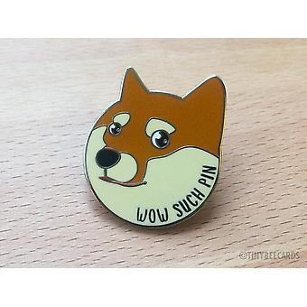 "Doge Emalj Pin ""wow Sådana Pin"""