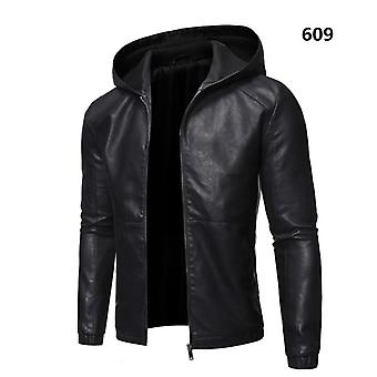 Men Faux Leather Jacket, Motorcycle Outwear Male Pu  Coats
