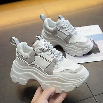 Women Chunky Vulcanize Platform Thick Sole Running Casual Shoe