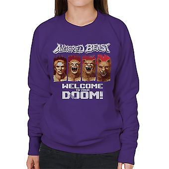 Sega Altered Beast Welcome To Your Doom Women's Sweatshirt