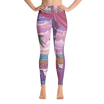 اليوغا Leggings شارون تاتيم أزياء كابري Leggings