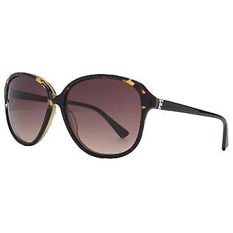 Franska Anslutning Premium Retro Glam solglasögon - Svart/Brun Demi