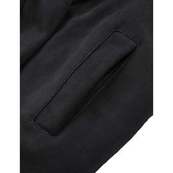 Bellivera المرأة & apos;s فو سويد سترة طويلة, Lapel Outwear خندق معطف كارديغان...
