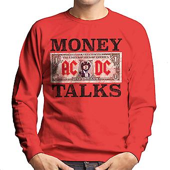 AC/DC Dollar Bill Money Talks Men's Sweatshirt