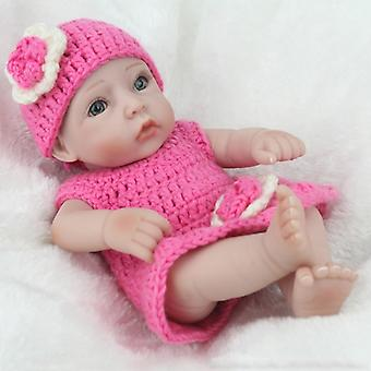 Handmade Real Looking Newborn Baby Girl Doll With Wig