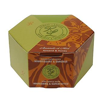 Almond & honey, round soap in individual box 150 g