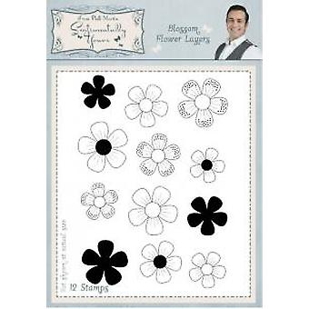 Sentimentally Yours Blossom Flower Layers Pre Cut Stamp