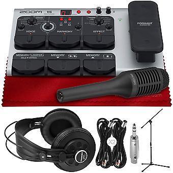 Vokalprosessor med talebehandling, harmoni, effekter, 40 forhåndsinnstillinger, looper og inkludert sgv-6 haglemikrofon + sr850 stereohodetelefoner,