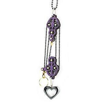 Block And Tackle Pulley Heart Necklace 7005b