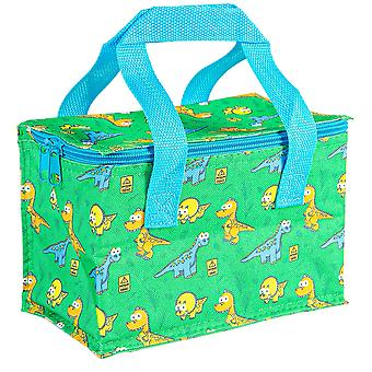 Insulated Lunch Bag Patterned Foil Lined Picnic Sandwich Box Dino Adventure