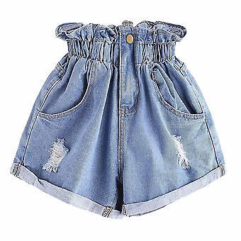 Ripped Denim Shorts, Women Summer Pocket Jeans Shorts Skirts