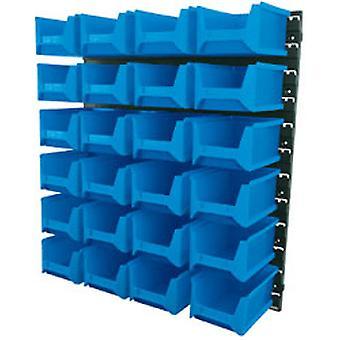 Unidade de armazenamento de parede Bin Draper 6797 24 (caixas grandes)