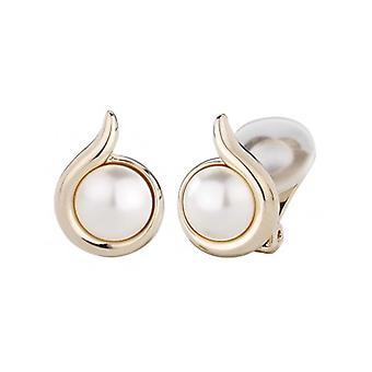 Traveller Clip Earrings With Pearl From Swarovski 22ct Gold Plated - 113631 - 377