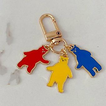 Cartoon Bear Metal Key Ring Key Ring  Pendant Fashion Key Management Tool