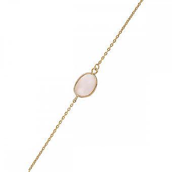 Gyllene mässing kedja armband monterad med en adlusa-grå agathe - apos;Tania-apos;