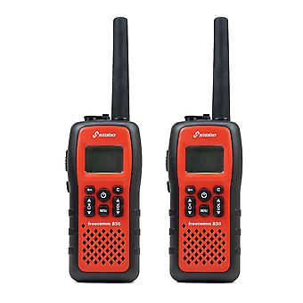 Stabo Freecomm 850 8CH portable PMR radio station Scan Dual watch 950mAh IPx7 2 piece set