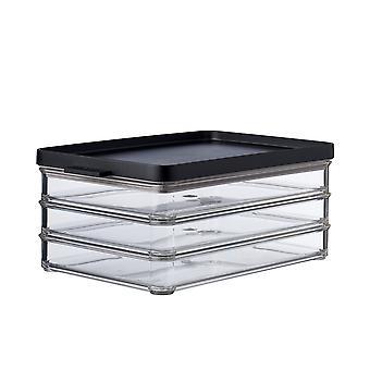 Mepal Omnia Meat Cuts Box 3 Layers, Black