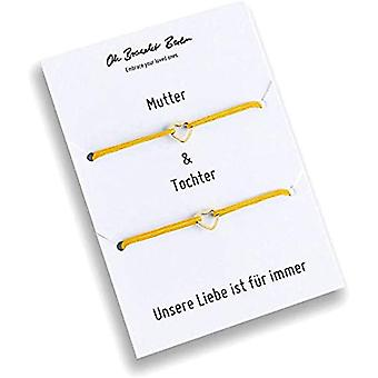 Set of 2 bracelets for mom and daughter, gold plated, 21 colors, nylon, for daughter, for mom, for every look and Color: Ref. 7141262343504