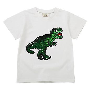 T shirt casual in cotone reversibile per unisex